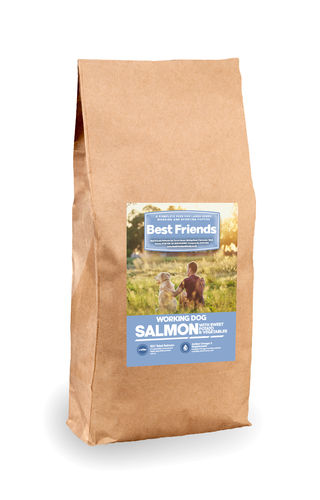 Working Dog Grain Free Large Breed Puppy 60% Salmon - Sweet Potato & Vegs